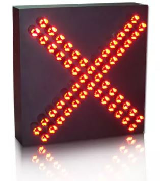 Toll Station Vehicle Red Cross Green Arrow Signal Light