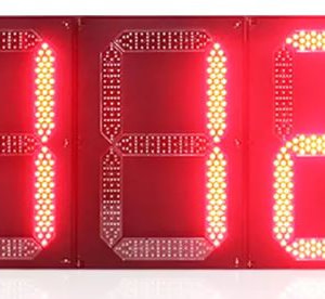 800*1200 mm Outdoor 3 digital Led Traffic Countdown Timer