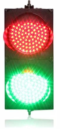 200 mm red & green LED traffic signal light