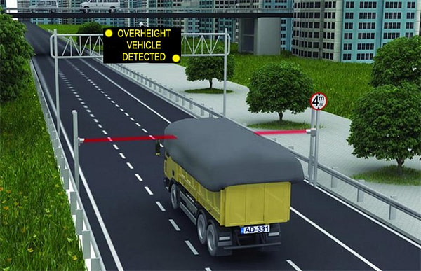 Over Height Vehicle Detection and Warning System (OHVDS)
