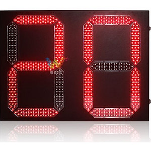 800*600 mm Outdoor 2 digital Led Traffic Light Countdown Timer