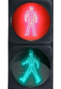 200mm Static Pedestrian LED Traffic Light: