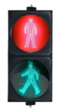 300mm Static Pedestrian LED Traffic Light: