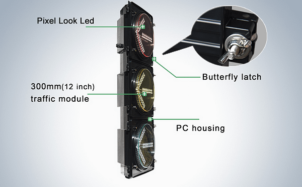 300mm HI-Intensity Traffic Light with Clear Lens