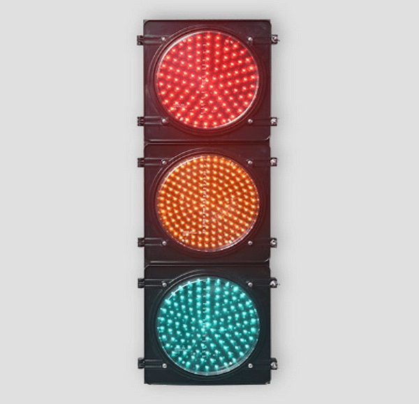 200mm HI-Intensity Traffic Light with Clear Lens