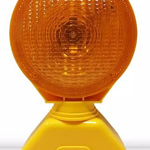 LED Solar Powered yellow Traffic Barricade Warning light.