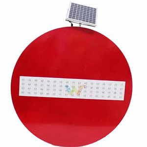 Round led traffic signs (solar warning sign)