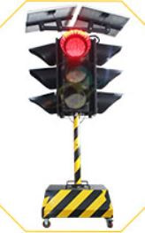 Portable 300 mm LED Solar traffic Signal